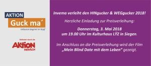 Aktion Guck ma 2018 - Hinweis Homepage